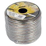 Luxtronic 12-Gauge Clear Speaker Wire / 50-ft.