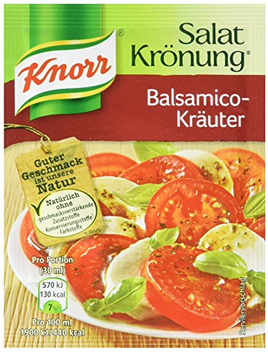 Knorr Salatkrönung Balsamico-Kräuter Salatdressing (5 x 5er-Pack)