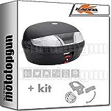 KAPPA MALETA K46NT 46 LT + PORTAEQUIPAJE MONOLOCK COMPATIBLE CON SUZUKI GSR 600 2010 10 2011 11