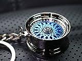 VmG-Store Speichenfelge Style Blau Felge Schlüsselanhänger - massiver Anhänger OEM VAG Dub