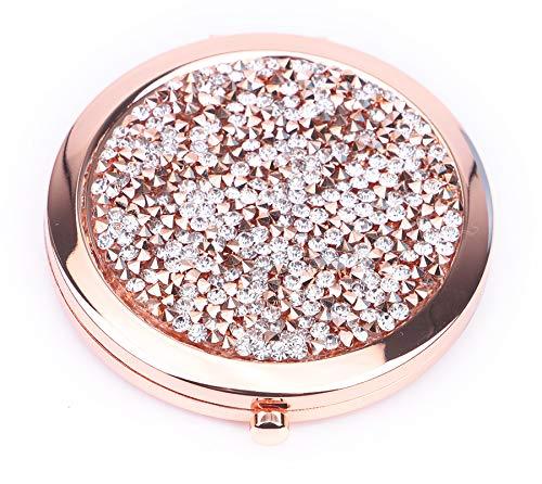 KOTWDQ verstärkt kleine Make-up-Spiegel, runde Taschenspiegel.