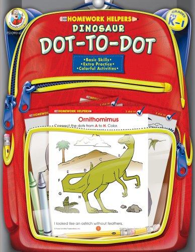 Dinosaur Dot-To-Dot, Homework Helpers, Grades PreK-1 (Brighter Child: Homework Helpers)