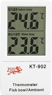 Fdit Termómetro de Acuario Digital de LCD Termómetro de Tanque de Peces Alarma Dual de Temperatura Metro de Exhibición de Temperatura