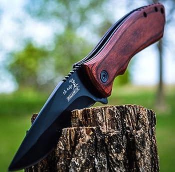 8  ELK RIDGE Wood Hunting SPRING ASSISTED OPEN Gentleman Folding POCKET KNIFE