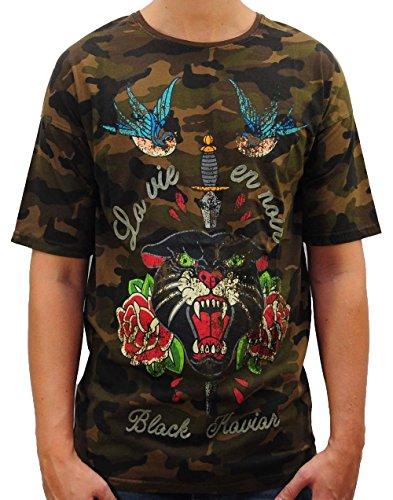 Black Kaviar Herren Robby T-Shirt, Mehrfarbig (CAMO CAMO), X-Large