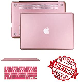 Rose Gold Case Cover with Keyboard Cover Compatible Macbook Air 13