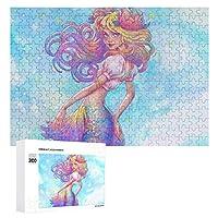 300ピパズル 人魚の泡の水彩 大人のジグソーパズル 面白い 木のパズル 娯楽遊戯盤遊戯誕生日プレゼント女.男の子