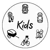 SANDINI SleepFix Kids BASIC – Kinder Schlafkissen/Nackenkissen mit Stützfunktion – Kindersitz-Zubehör als BASIC Version für Auto/Fahrrad/Reise – Verhindert das Abkippen des Kopfes im Schlaf - 3