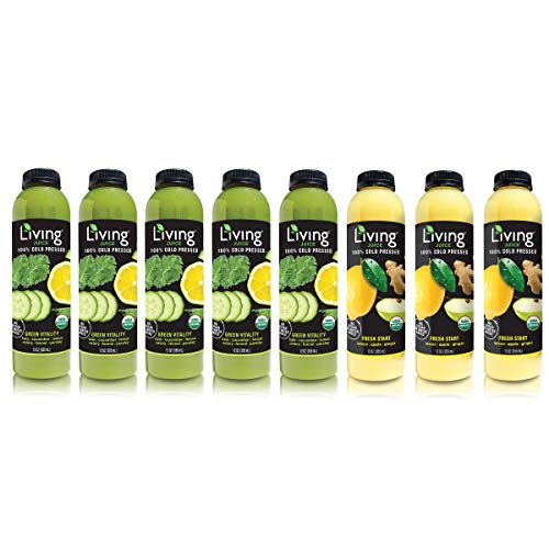 O2 Living Juice Fast Cold-Pressed Juice, No Sugar or Water Added, Loaded with Nutrients, Vitamins, Enzymes, and Minerals, Detox, Fruit Juice for Weight Loss (3-Day)