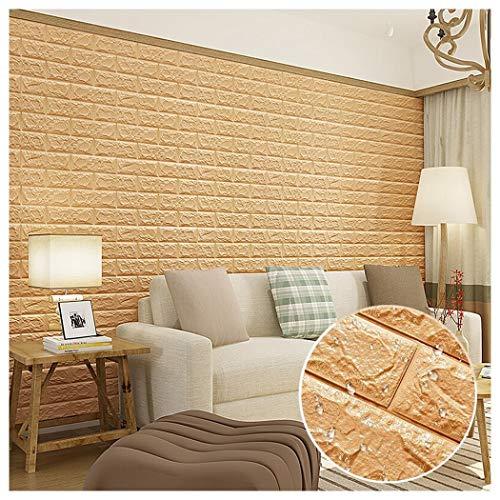 20Stück 77X70cm 3D Ziegelstein PE Schaum Ziegel Tapete DIY Wand-Aufkleber Selbstklebendes Tapete Ziegelstein-Tapete Wasserfest 3D Wand-Verkleidungen für Schlafzimmer Wohnzimmer Hintergrund TV-Decor