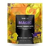Vivo Life Magic - Polvo de Leche Vegano con Cúrcuma, Melena de León, Jengibre, Cardamomo y Pimienta Negra - 120g