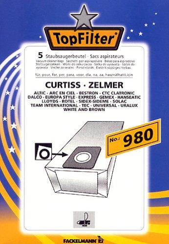 Fackelmann Top Filter 5 Staubsaugerbeutel Nr. 980