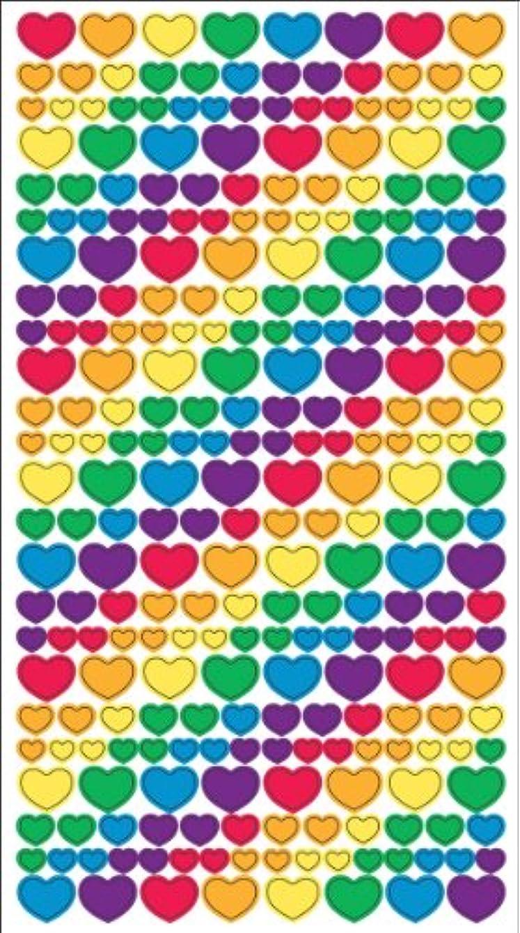 Sticko Classic Stickers-Metallic Rainbow Hearts gdnlpz542222