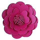 Mylin Flor De Fomi con Textura. Ideal Para Decorar Mesas de Dulces, Fiestas, Cumpleaños, Escenarios. Tamaño: 30 cm Color Fiusha