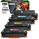 Cool Toner 4 Pack Compatible per Canon 046 046H 046HK 046HC 046HM 046HY Cartucce Toner per Canon i-SENSYS MF732Cdw MF734Cdw MF735Cx, Canon i-SENSYS LBP653Cdw LBP654Cx Canon MF732Cdw MF734Cdw MF735Cx