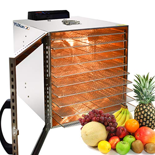 New Food Dehydrator Commercial Stainless Steel Fruit Dryer Food Dryer 10 Layers 1000W Professional A...