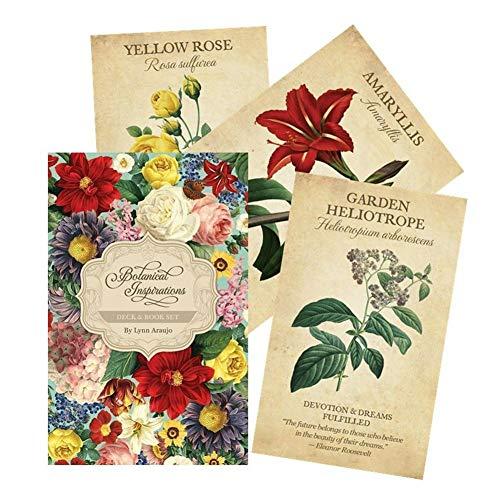 Leader 45PCS Botanical Inspiration Oracle-Karten Tarot-Karte mit Full English Ratgeber Kreativ Freund Party Entertainment-Brettspiel