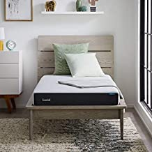 LUCID 6 Inch Memory Foam Soft Feel – Gel Infusion – Hypoallergenic Bamboo Charcoal – Breathable Cover Mattress, Full, White