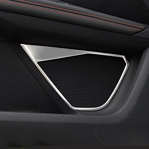HIGH FLYING 4 STKS roestvrij staal zilver/blauw/zwart interieur deur Speaker Cover Trim voor 3008 GT/5008 GT 2017 2018 Auto Accessoire ZILVER