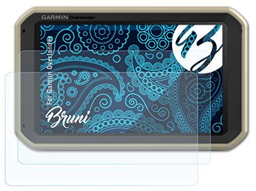 Bruni Película Protectora Compatible con Garmin Overlander Protector Película, Claro Lámina Protectora (2X)
