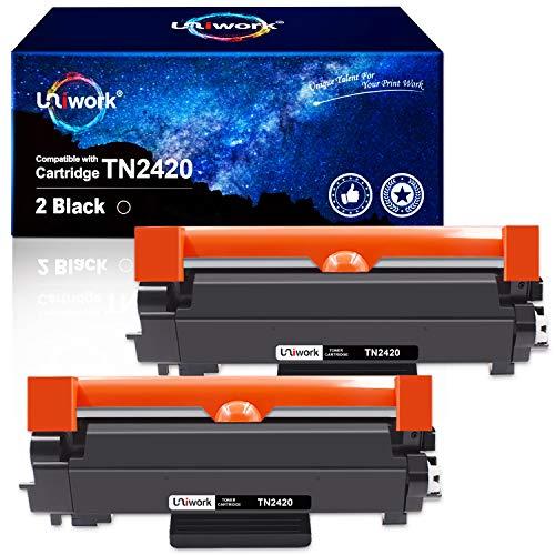 2 Uniwork Toner Kompatibel für Brother TN2420 TN-2420 TN-2410 für Brother MFC-L2710DW HL-L2350DW HL-L2370DN MFC-L2710DN HL-L2310D DCP-L2530DW HL-L2375DW DCP-L2510D MFC-L2750DW, mit Chip