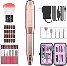 MelodySusie Electric Nail Drill 11 in 1 Set, Portable E-file Nail Kit for Acrylic Gel Nails, Professional Nail Drill Machine Manicure Pedicure Polishing Shape Tools with Everything, Home Salon Use