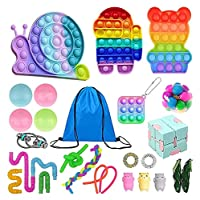 おもちゃパック、感覚のフィジットパックシンプルでディンプルのストレスリリーフポップバブルおもちゃ安く子供大人の殺害時間のための収納袋 (Color : Fidget Pack-6)