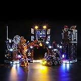 BRIKSMAX Kit di Illuminazione a LED per Lego Clayface e lInvasione della Bat-caverna,Compatibile con Il Modello Lego 76122 Mattoncini da Costruzioni - Non Include Il Set Lego.