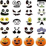 48 Piezas de Pegatinas en Calabaza Pegatinas de Decoración de Halloween Pegatinas de Manualidades...