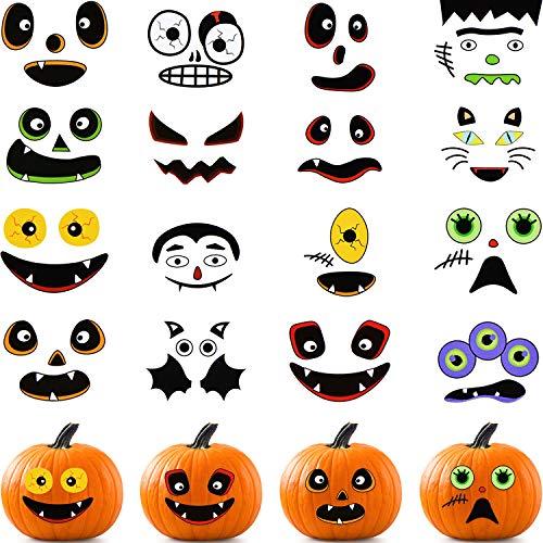 48 Pieces Pumpkin Stickers Halloween Pumpkin Decoration Stickers Craft Stickers for...