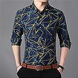 HDDFG Camisas a cuadros para hombre, otoño, con botones, manga larga, informal, camisa social, oficina de negocios, talla grande 7XL (Color : B, Size : 2XL code)
