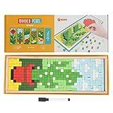HEEPDD Rompecabezas de Mosaico de Madera, niño niña, Color Brillante, Bloque de construcción,...