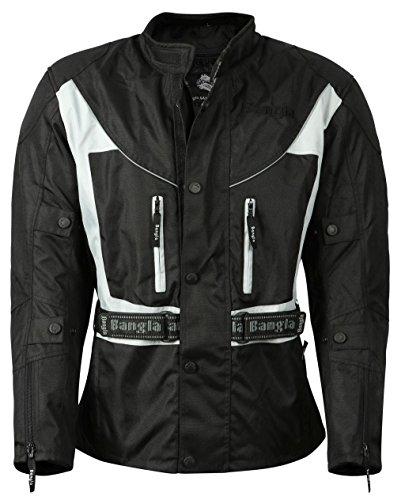 Ledershop-online Bangla 017a Motorrad Jacke Motorradjacke Textil wasserdicht schwarz-grau Gr. S