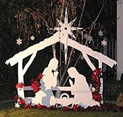 Large Outdoor Christmas Nativity Set