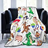 RGFK Super Soft Throw Blanket,Toy Story Buzz Lightyear Design Warm Blanket Bedspreads for Bed Couch 50 x 40 inch