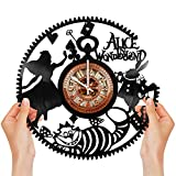 Exquisite Alice in Wonderland Vinyl Clock | Designed in Brooklyn | Limited Edition | by Havaux