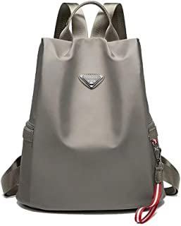 Dreneco Female Backpack, Anti-theft Water Resistant School Bag Casual Travel Daypack Outdoor Backpack Black Grey