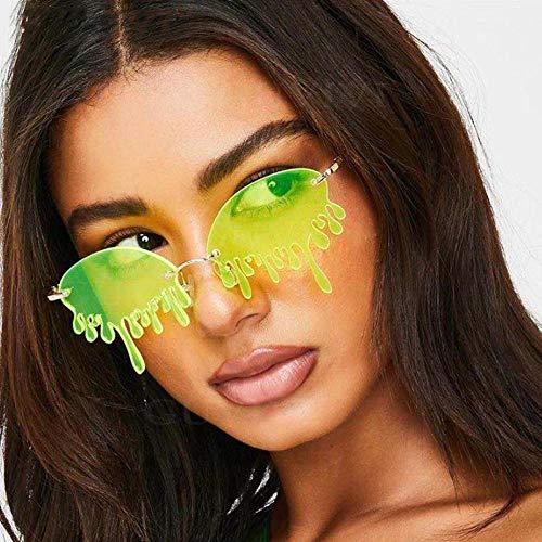 occhiali da sole Sunglasses Occhiali Da Sole Senza Montatura Donna Fashion Tears Occhiali Da Sole Donna Uv400 Giallo