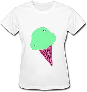 Yhdjk Women's Screen Shot Ice Cream T Shirt White XXL