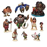YSJJEFB Action Figures 10 unids/Set 6-10cm Moana Princess Maui Jefe Tui Tala Heihei PUA Figura de acción Brinquedo Juguetes para niños playsets (Color : Package by Bag)