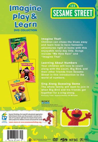 51GKGCF4WDL. SL500  - Sesame Street: Imagine, Play, and Learn Collection (Imagine That / Learning About Numbers / Sing Along Guessing Game)