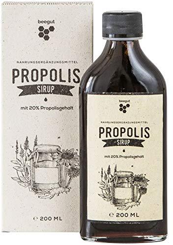 beegut Propolis Sirup mit natürlichem Propolis, Honig, Salbei und Echinacea, 200ml auch für Kinder