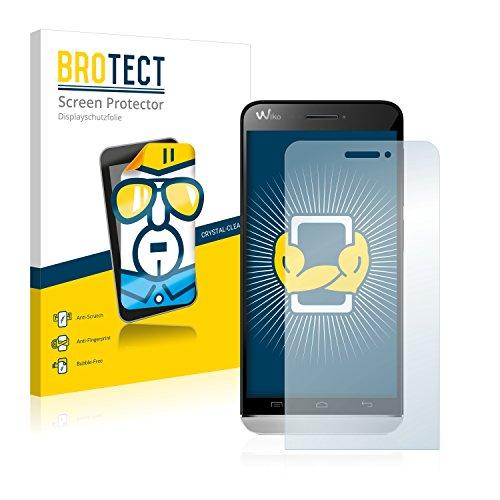 BROTECT Schutzfolie kompatibel mit Wiko Wax 4G (2 Stück) klare Bildschirmschutz-Folie
