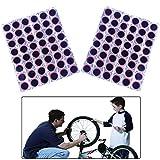 Yhuasia Parches Bicicleta, 144 Piezas 25mm Reparación Neumáticos Bicicleta, Parches Goma Redondos Bicicleta, para...