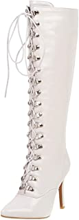 Melady Women Fashion Knee High Boot Stiletto Heels Zipper