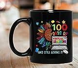 N\A Tazas novedosas 11 oz 100 días de Aprendizaje Virtual para Maestros de Escuela Taza de café Amorosa Taza de Viaje Taza de Viaje
