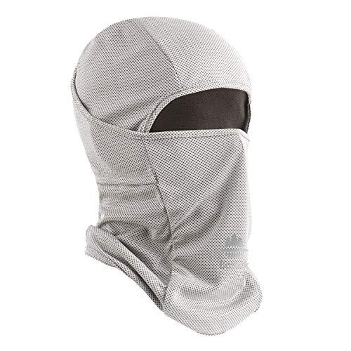 Botack Balaclava UV Protect Ice Cooling Face Mask Dust Wind Breathable Balaclava Gaiter Cycling Motor Neck Mask for Men Women Grey
