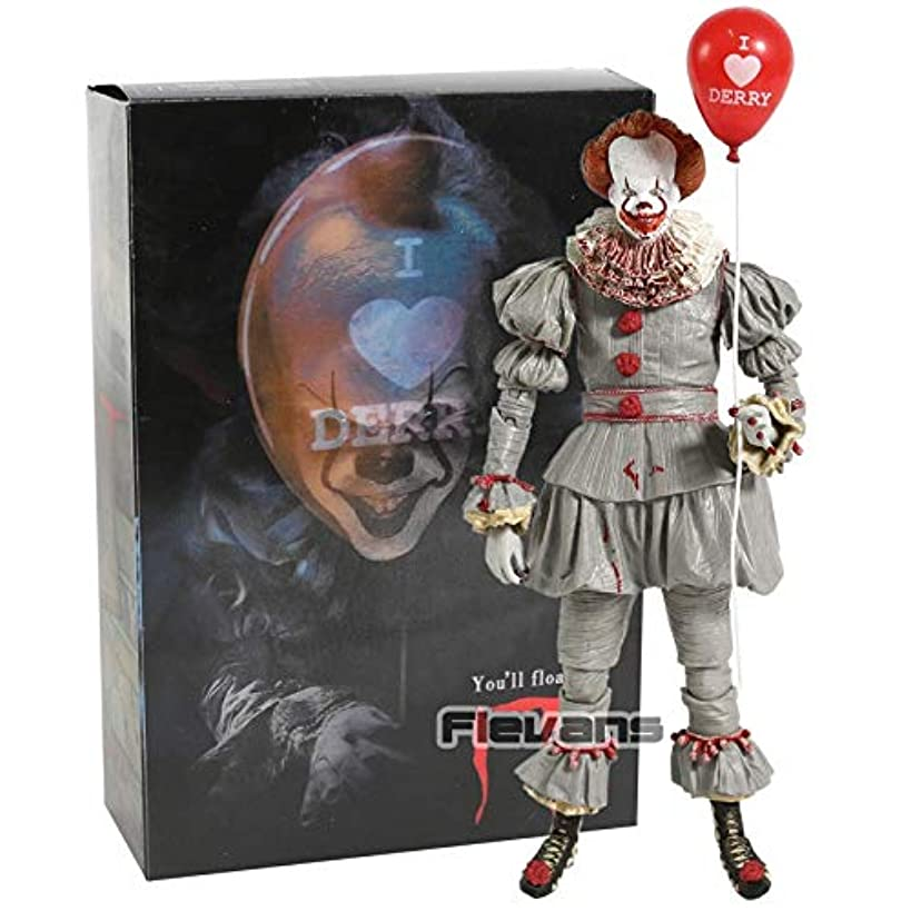 PAPBI Pennywise Figure 7 inch Hot Toys IT 2017 Ultimate Scale Action Figures Horror Mini Model Doll Exclusive Toy Halloween Christmas Collectible Collectable Gifts Collectibles Gift for Kids Baby