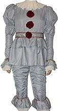 Sodhue Halloween Kostüme Pennywise Clown Cosplay Jumpsuit Bekleidung Film Halloween Narr Anzug für Weihnachtsfeier Rollenspiel Urlaub Karneval Party Festival