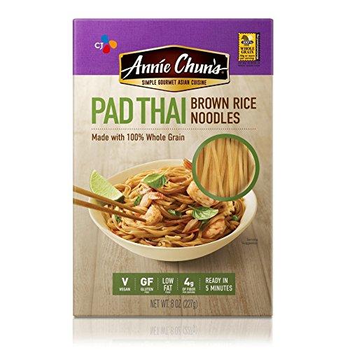 Annie Chun's Brown Rice Noodles, Pad Thai   Vegan, 8-oz (Pack of 6)   Gluten-Free Alternative to Linguine Pasta